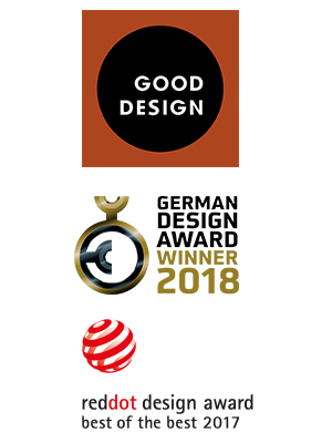 BJÖRK médaillée Good Design, RedDot, German Design